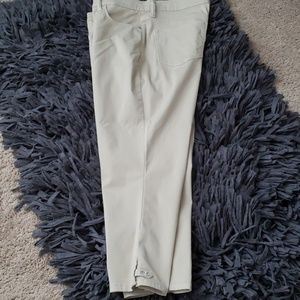 Cream colored capri slacks